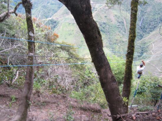 El Refugio de Intag Lodge: Me on the zipline - even more unbelievable