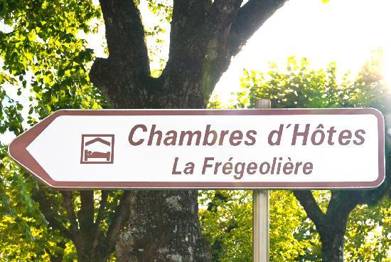 Chateau de la Fregeoliere: follow the signs from town square on to us