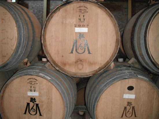 Uva Mira Mountain Vineyards: Uva Mira barrels