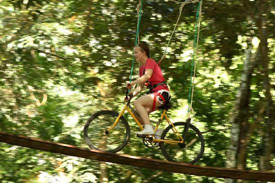 Ao Luek, Thailand: tree top biking!