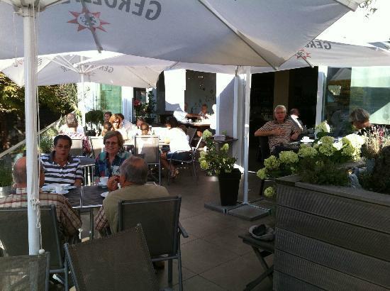 Raphael's Restaurant und Weinbar: Terasse mit Blick zum Rhein