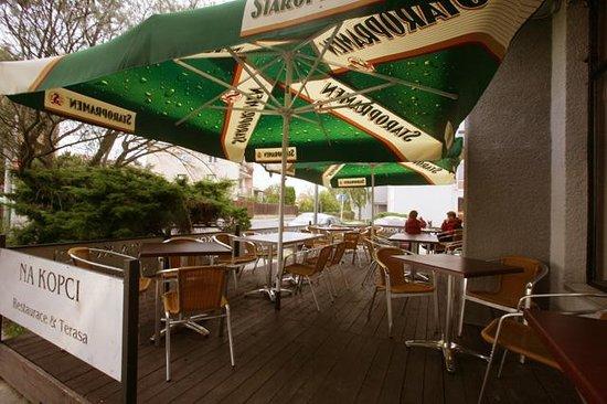 Restaurace Na Kopci: Outside summer terrace