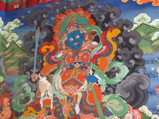 Lamayuru, Indien: inside the gompa