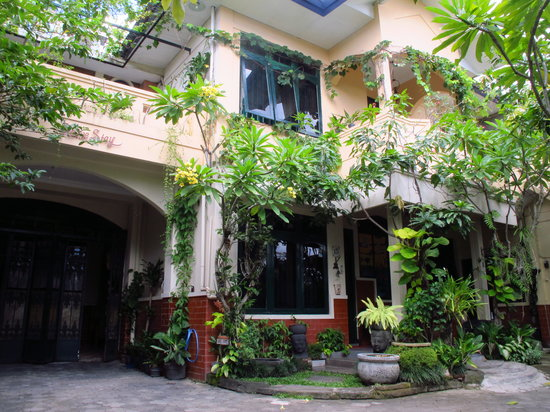 This is the entrance garden of Homestay Heru