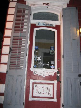 The Burgundy Bed and Breakfast: front door