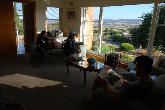 Trevallyn House B & B: View from the common room