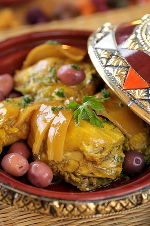 Restaurant of La Maison Arabe: Chicken Tagine