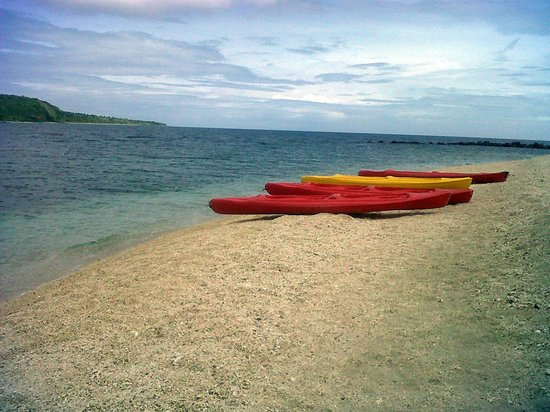 Marinduque Island, Filipinler: pebble beach