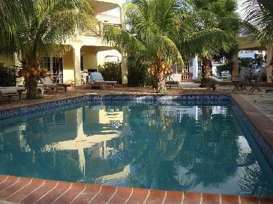 Perla Boneriano: The pool just yards away from your porch.