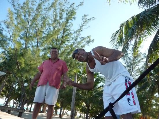 Coco Plum Island Resort: Andrew and Captain Rojo bid us farewell