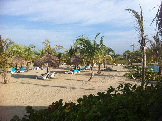 Estelar Playa Manzanillo: where we sat on beach