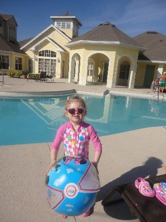Cane Island Resort: my daughter by the pool