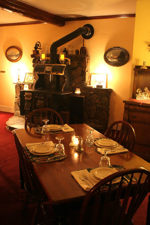 The Open Range: The antique wood stove in the Dining Room
