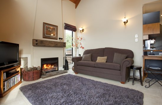 Wanaka Cottages: Cottage- Living Room with Open Fire