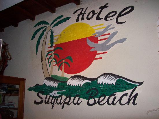 Hotel Suyapa Beach: Lobby Sign