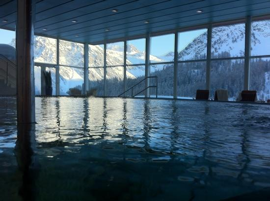 Arosa Kulm Hotel & Alpin Spa: view from the pool