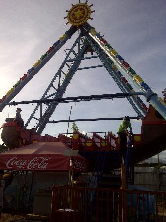 """St. James Amusement Park: This is their Pirate Ship """"The Black Pearl"""""""