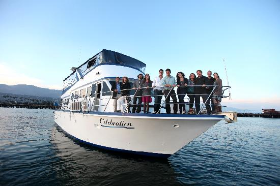 Celebration Cruises of Santa Barbara day trips: Open air views from very part of the boat