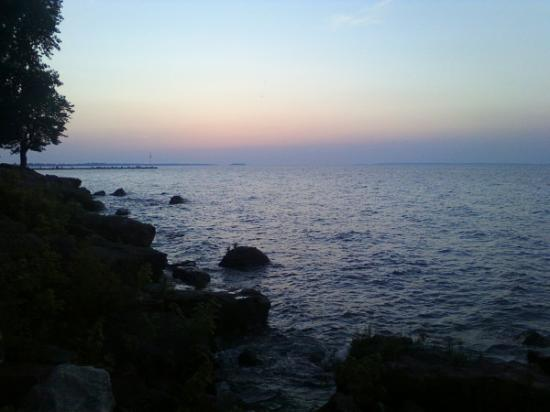 Lake Erie: A view of the lake at dusk