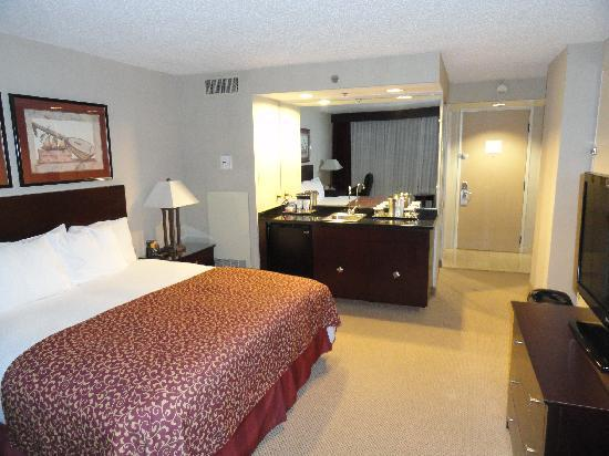 Hilton Houston Plaza/Medical Center: Single king room, not a suite