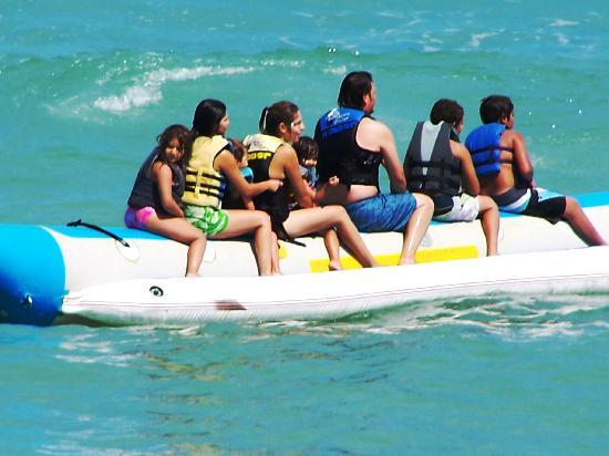 Playa Bonita Condo Suites: Banana Boat Fun!