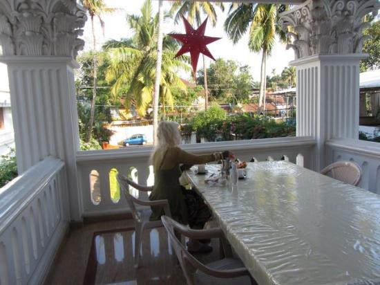 Chackupurakal: Tea on veranda in the afternoon