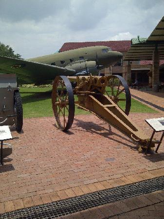 South African National Museum of Military History: Artillery and static Aircraft on display