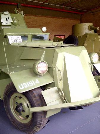 South African National Museum of Military History: Part of an extensive display of early armoured cars