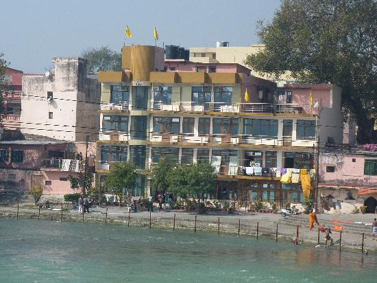 Hotel Aditya : View of hotel from foot bridge