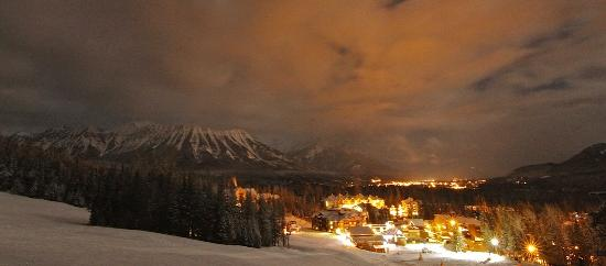 Fernie Alpine Resort Village in Evening