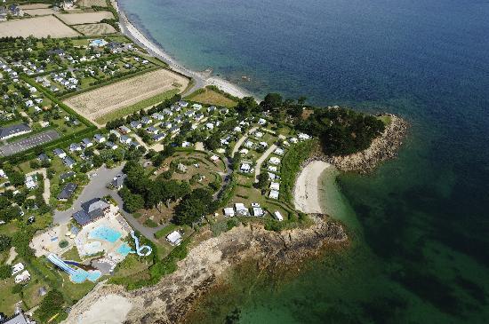 Camping ar Kleguer : vue aerienne