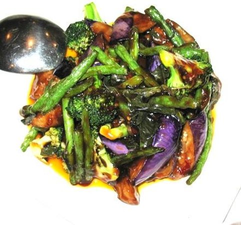 String Beans, Eggplant, Broccoli