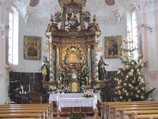 Maria Gern: Church interior at Christmas
