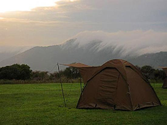 Obszar Chroniony Ngorongoro, Tanzania: Camping on the edge of the Ngorongoro Crater