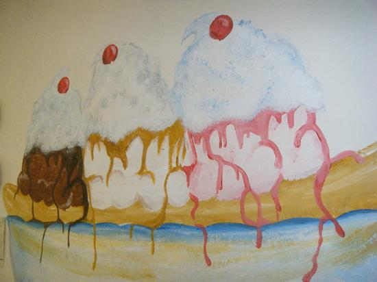 Cubby's Home Made Ice Cream: sweet art work