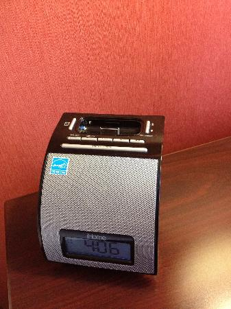Chicago Marriott Suites O'Hare: even had an iPhone charging alarm clock