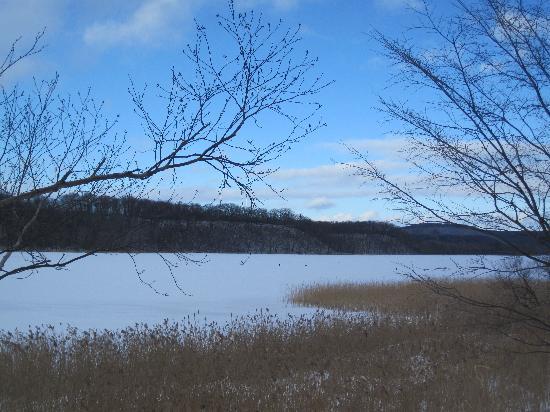 冬の網走湖 - 網走市、網走湖畔...