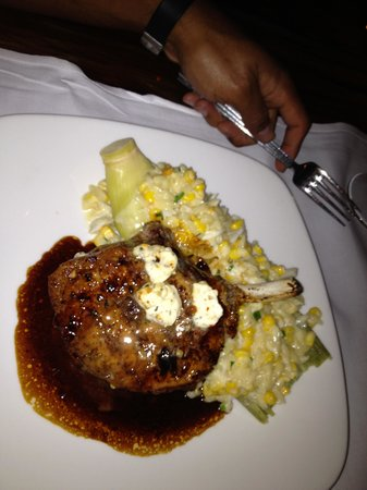 Besh Steakhouse at Harrah's : Pork chop with corn risotto