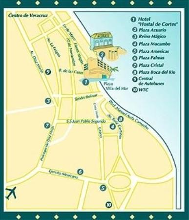 Mapa-Hostal de Cortes