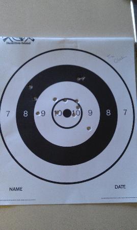 Hamilton Island Target Sports: Hand gun target