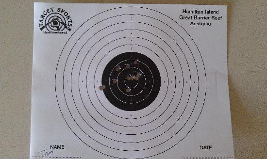 Hamilton Island Target Sports: Rifle target