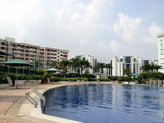Village Residence Hougang by Far East Hospitality: the pool at 4th floor