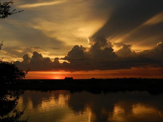 Chobe Safari Lodge: Sunset at Chobe Lodge, Kasane