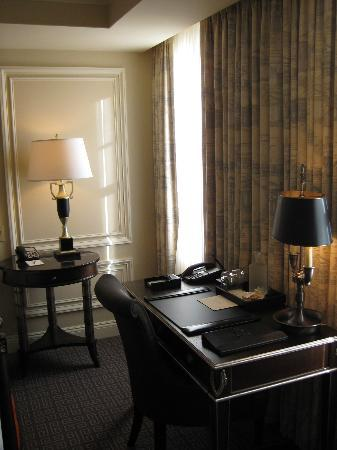 The Jefferson, Washington DC : Writing desk.  Note the abundant natural light streaming in the room.