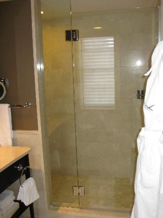 The Jefferson, Washington DC : Bathroom.  The glass enclosed shower was spacious.