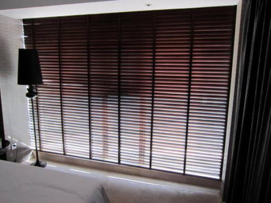 Le Parker International Hotel: Could not close the blinds to permit morning sleep.