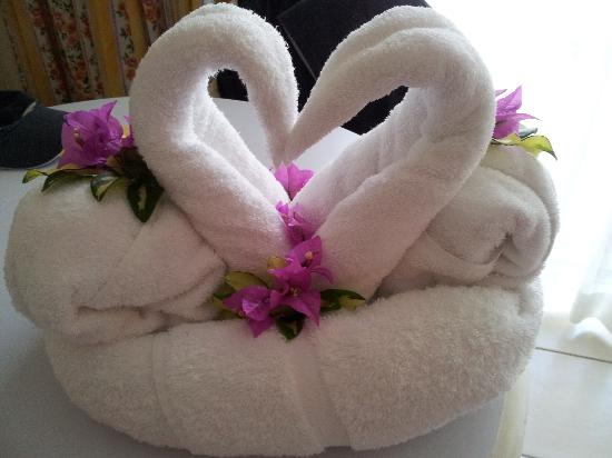 Bay Gardens Hotel: Towel Arrangement by Chamber-maid