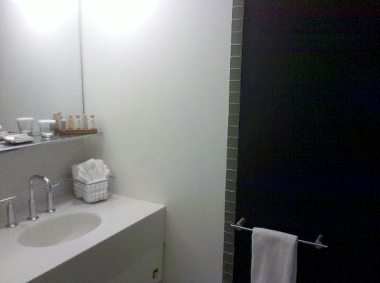 NU Hotel: bathroom- it's much larger, but this is all I could capture!
