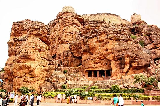 Badami, India: Lord Shiva  Cave [ 543 AD]: Front View