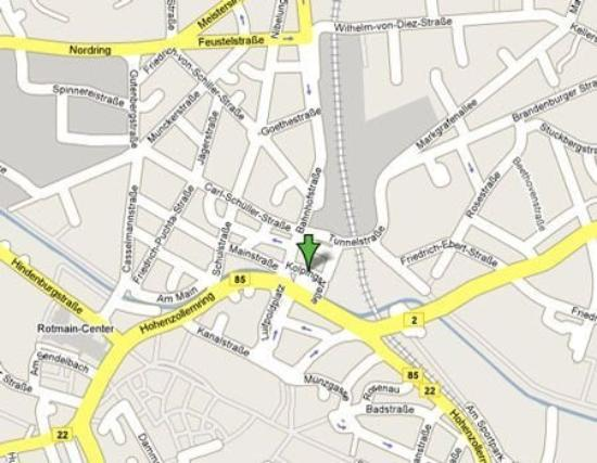 Accent - Hotel Bayreuth: Map